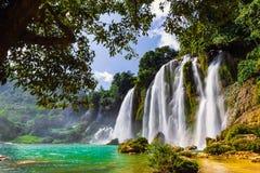 Bangioc瀑布在Caobang,越南 免版税图库摄影