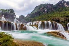 Bangioc瀑布在Caobang,越南 库存照片