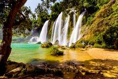 Bangioc瀑布在Caobang,越南 免版税库存图片