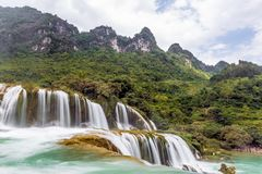 Bangioc-Wasserfall in Caobang, Vietnam Stockbild