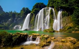 Bangioc-Wasserfall in Caobang, Vietnam Stockfoto