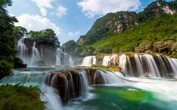 Bangioc-Wasserfall in Caobang, Vietnam Lizenzfreies Stockbild