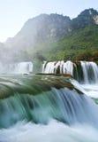 BanGioc waterfall. In CaoBang, vietnam Royalty Free Stock Image