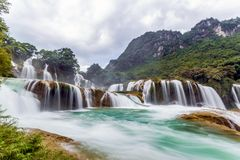 Bangiocwaterval in Caobang, Vietnam Stock Foto
