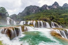 Bangiocwaterval in Caobang, Vietnam Stock Foto's