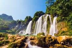 Bangiocwaterval in Caobang, Vietnam Royalty-vrije Stock Afbeelding