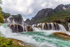 Bangiocwaterval in Caobang, Vietnam Stock Afbeeldingen