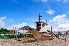 Bangka, παραδοσιακό φιλιππινέζικο Sailboat που χτίζεται Στοκ Φωτογραφίες