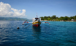 Bangka boat on the sea in Bali, Indonesia Stock Photography