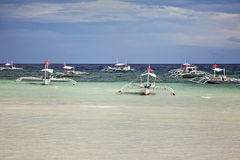 Bangka filipino dos barcos Foto de Stock Royalty Free