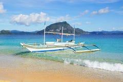 Bangka at island, Philippines Royalty Free Stock Image