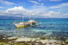 Bangka at island, Philippines Royalty Free Stock Photo
