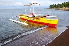 Bangka at island, Philippines Royalty Free Stock Photography