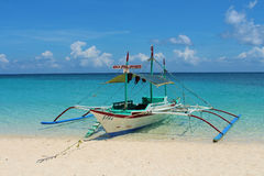 Bangka - a traditional boat in Philippines Stock Images