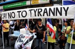 Bangklok. Thailand: Protestors  at Shut Down Bangkok Royalty Free Stock Photography