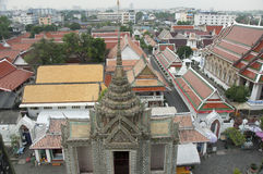 Bangkog from the roof of the temple and city views Stock Images