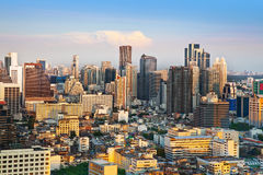 Stads- stadshorisont, Bangkok, Thailand Fotografering för Bildbyråer