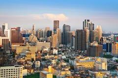 Orizzonte urbano della città, Bangkok, Tailandia Immagine Stock