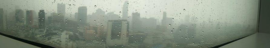Bangkok è nella pioggia Fotografia Stock Libera da Diritti