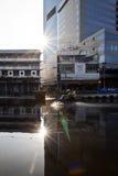 bangkok översvämning Arkivfoto