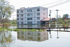 bangkok översvämning Royaltyfri Fotografi