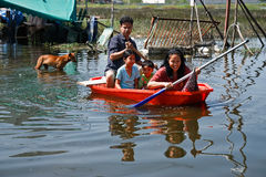bangkok översvämning Royaltyfria Foton