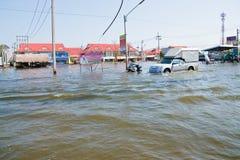 bangkok översvämning Royaltyfri Bild