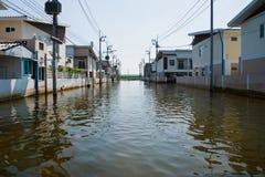 bangkok översvämning thailand Arkivbilder