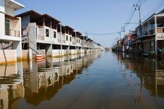 bangkok översvämning thailand Royaltyfri Bild