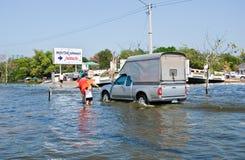 bangkok översvämning thailand Arkivbild