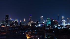 Bangkok życie nocne - miasta Bangkok światło Obrazy Stock