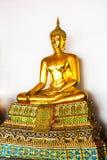 bangkok Таиланд Золотой Будда в виске Wat Pho Стоковое фото RF