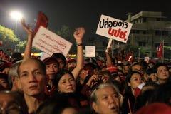 BANGKOK - 10 DÉCEMBRE : Démonstration rouge de protestation de chemises - Thaïlande Photo libre de droits
