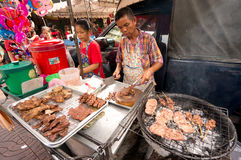BANGKOK, - 10 DE FEBRERO: Año Nuevo chino 2013 - celebraciones adentro Fotos de archivo libres de regalías