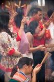 BANGKOK, - 10 DE FEBRERO: Año Nuevo chino 2013 - celebraciones adentro Imagen de archivo libre de regalías