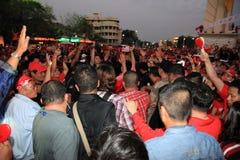 BANGKOK - 10 DEC: De rode Demonstratie van het Protest van Overhemden - Thailand Royalty-vrije Stock Fotografie