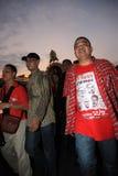 BANGKOK - 10 DEC: De rode Demonstratie van het Protest van Overhemden - Thailand Royalty-vrije Stock Afbeelding