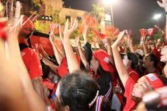 BANGKOK - 10 DEC: De rode Demonstratie van het Protest van Overhemden - Thailand Royalty-vrije Stock Foto