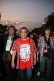BANGKOK - 10. DEZEMBER: Rote Hemd-Protest-Demonstration - Thailand Stockbilder