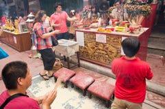 BANGKOK, - 10. FEBRUAR: Chinesisches Neujahrsfest 2013 - Feiern herein Stockbild