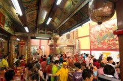 BANGKOK, - 10 FEBRUARI: Chinees Nieuwjaar 2013 - Vieringen binnen Royalty-vrije Stock Afbeelding