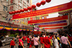 BANGKOK, - 10 FEBRUARI: Chinees Nieuwjaar 2013 - Vieringen binnen Royalty-vrije Stock Foto's