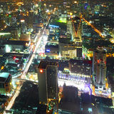 Bangkok. Aerial view of city skyline at night. Bangkok. Thailand Stock Photo