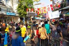 BANGKOK - 13. APRIL 2012: Songkran Festival Lizenzfreies Stockbild