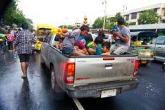 BANGKOK - 13. APRIL 2012: Songkran Festival Stockbilder