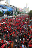 BANGKOK - 19 NOVEMBRE : Protestation rouge de chemises Photo stock