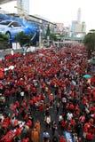BANGKOK - 19 NOVEMBRE : Protestation rouge de chemises Photo stock
