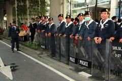 BANGKOK - 19 NOVEMBRE : Protestation rouge de chemises - Thaïlande Photo libre de droits