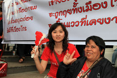 BANGKOK - 19 NOVEMBRE : Protestation rouge de chemises - Thaïlande Photo libre de droits