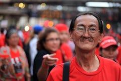 BANGKOK - 19 NOVEMBRE : Protestation rouge de chemises - Thaïlande Photos libres de droits